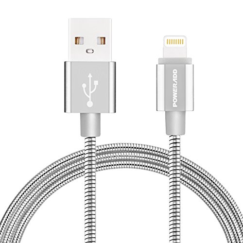 8-Pin Lightning to USB Cable , Poweradd Metal USB Fast Char