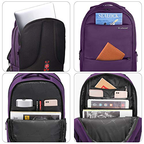 3aae9851967 ... LAPACKER 15.6-17 inch Business Laptop Backpacks for Women Mens Water  Resistant Laptop Travel Bag ...