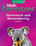 Math Expressions Homework and Remembering, Volume 2, Karen C. Fuson, 0618641106