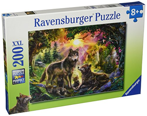 Ravensburger Wolf Family In The Sun 200 Piece Jigsaw Puzzle for Kids – Every Piece is Unique, Pieces Fit Together Perfectly