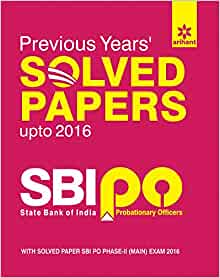 Sbi po previous year paper book