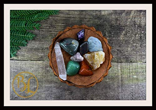 ARIES Gemstone Kit 9 Zodiac Aries Gemstone Set Healing Crystals Stone Healing Zodiac Aries Intention Stones Lithiotherapy Aries Stone Set