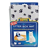 Scented Cat Litter Box Mat – 20″ x 28″ – Grey with blue paw prints, My Pet Supplies