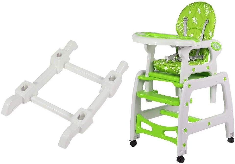 lyrlody Babyhochstuhl mit Tablett 3 in 1 gr/ün Kinderhochstuhl mit verstellbaren R/ädern