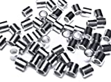 100 Pcs Sterling Silver Crimp Bead 2 X 2mm Tube Crimp Beads