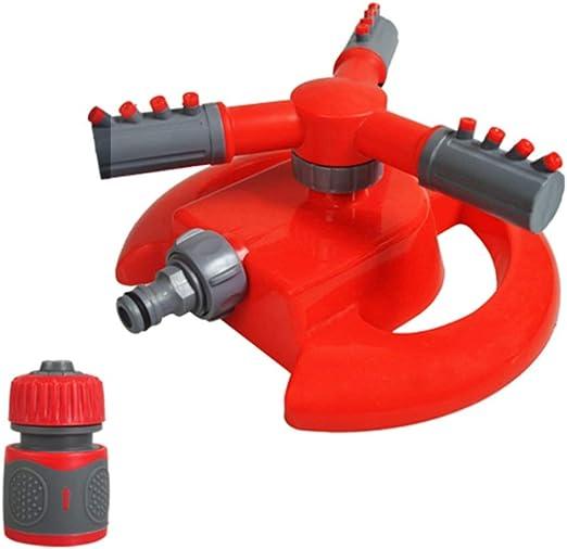 HM&DX Pistola de riego Jardin Alta presion, 360° rotación automática 2 Patrones de Aerosol Riego Pulverizador Jardin rociador para Césped riego Piso de enfriamiento-Rojo 3/4Conector: Amazon.es: Jardín