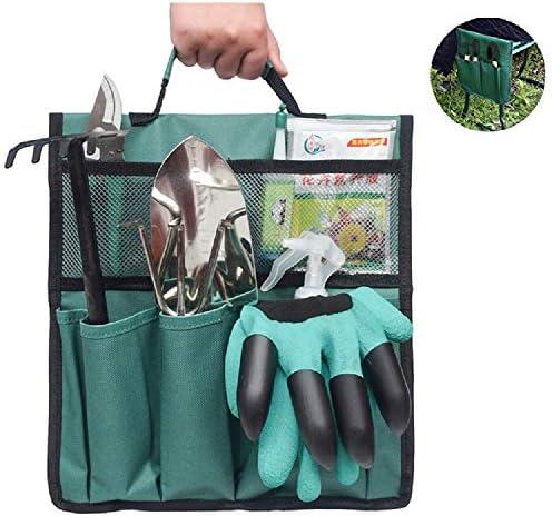 QDYL 1 / 2PCS Garden Kneeler Tool Bag , Kniehocker Gartenarbeit Oxford Taschen 12,2 * 11,8 '' mit Griff für Kniehocker Gardening Tools Tasche (1, Grün)