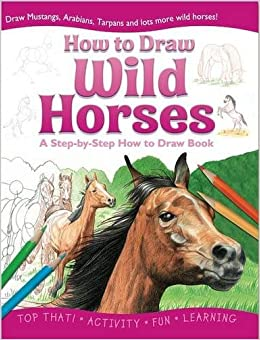 how to draw wild horses how to draw activity books lisa regan 9781849563772 amazoncom books