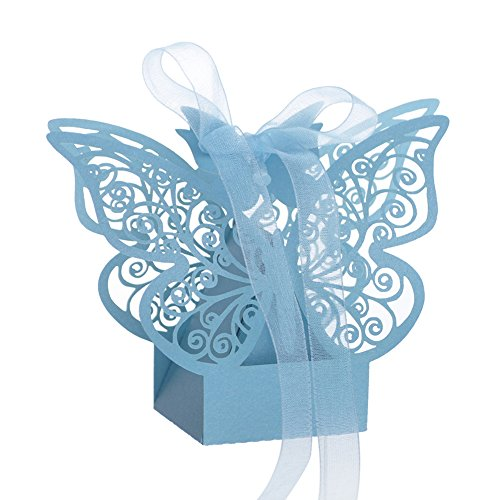 (Aspire 50 PCS Butterfly Laser Cut Favor Boxes Wedding Gift Boxes for Party)