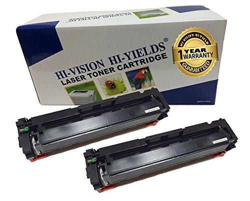 HI-VISION 2 PK Compatible HP CF410A [410A] Black (2,300 Pages) Laserjet Toner Cartridge Replacement for Color LaserJet Pro M452nw, M452dw, MFP M477fnw, MFP M477fnw, M452dn, MFP M477fdn ()
