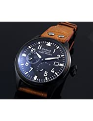 Parnis Military Army Men's Automatic Watch Seagull Movement St25 Power Reserve Energy Display by Parnis