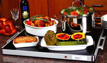 "Classic Kitchen Deluxe Glass Buffet Warming Tray Full size 24″ x 20 "" by, looks good, works as described"