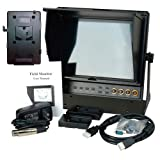 Delvcam 9.7in Dual Input HDMI Monitor and V-Mount Battery Plate (DELV-HDSD-10-VM)