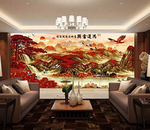 Wallpaper 3D Wallpaper Ink Landscape Crane Eagle Wall Mural ()