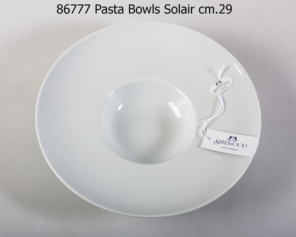 Lubiana Set 6 piatti fondi da 29 cm in porcellana bianchi modello Solair