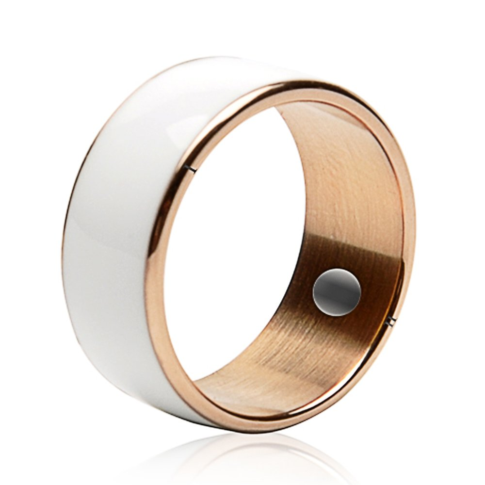 60mm White Titanium Waterproof App Enabled Smart Ring NFC Smart Ring for Android Windows NFC Mobile Phones Samsung Sony