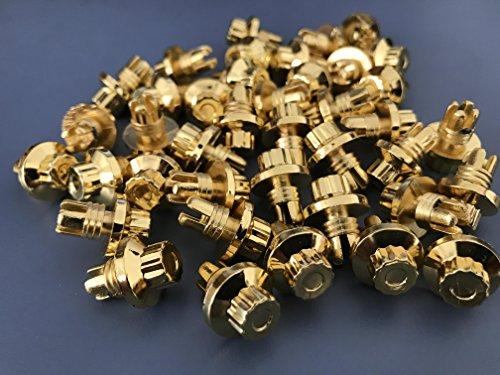 Wheel Rim Screws - 50 Pcs Gold Black Wheel Rim Chrome Bolt Spike Rivets for Wheel Rim (Gold)