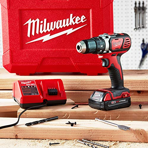 Milwaukee 2606-22CT M18 Cordless Drill/Driver Kit, 18 V