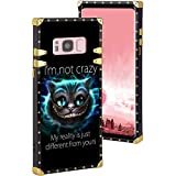 DISNEY COLLECTION Alice in Wonderland Square Edge Cell Phone Case for Galaxy S8 Plus (2017) (6.2-Inch)
