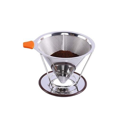 Kaiyei Filtro De Café Doble Capa Tipo De Cono 304 Acero Inoxidable ...