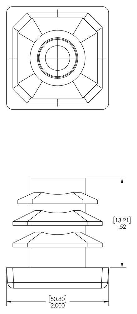 PVC to fit Square Tube Size OD1.500 Wall Thickness 10-14 Ga. Black .134-.083 Caplugs 99395185 Plastic Vinyl Plug for Square Tubing SQRV-1 1//2-10-14 Pack of 40