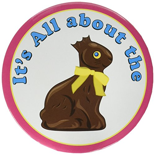 It's All About The Chocolate Bunny Button Party Accessory (1 count) - Buttons About Bunny