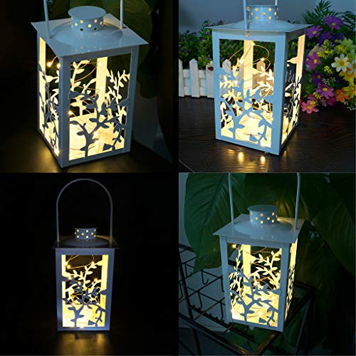 Gotian 20 LED Brushed Vintage Light Fairy Light Hanging Lantern Indoor Outdoor Decor, for Home, Window, Bathroom, Wedding, Festival, Holiday, Fashion Show, Dance, Stage from Gotian