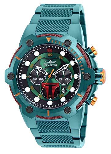Invicta Men's 'Star Wars' Quartz Stainless Steel Watch, Color:Green (Model: 27113)