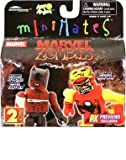 Marvel MiniMates: Previews Exclusive Zombie Iron Man & Black Panther 2-Pack