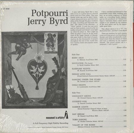 Jerry Byrd: Potpourri - A Potpourri Of Sound From The Master Of The Steel Guitar [VINYL LP] [STEREO]