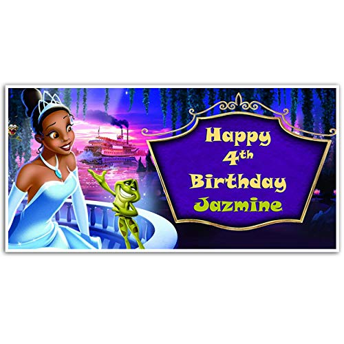 Princess and the Frog Birthday Banner Personalized Party Backdrop Decoration