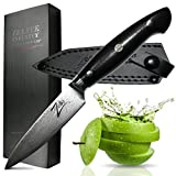 ZELITE INFINITY Paring Knife 4.25 Inch >> Executive-Plus Series >> Best Quality Japanese VG10 Super Steel 67 Layer High Carbon Stainless Steel, Incredible G10 Handle, Full-tang, Larger Deeper Blade
