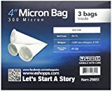 "Eshopps 4"" Micron Bag Package 3-in-1"