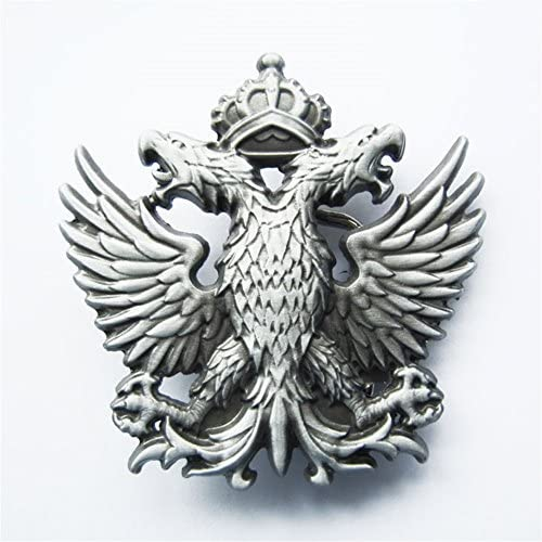 US Stock Classic Russia Empire Crown Double-Headed Eagle Belt Buckle ベルトのバックル