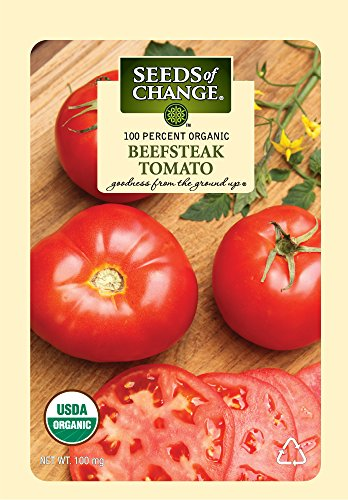 (Seeds of Change Certified Organic Seed Beefsteak Tomato)
