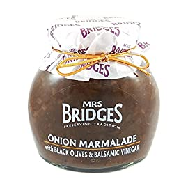 Mrs Bridges Onion Marmalade with Black Olives and Balsamic Vinegar, 10 Ounce 124 Made with traditional recipes and methods Presented and packaged with a vintage feel Made in Scotland