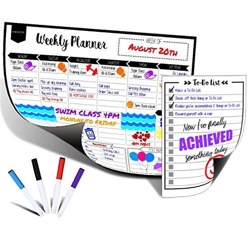(Magnetic Dry Erase Weekly Calendar Planner for Fridge 17