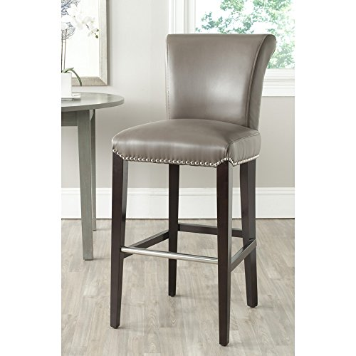 ection 30-inch Seth Clay Leather Adjustable  Bar Stool ()