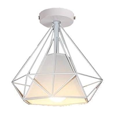 94212a31460f9 STOEX Retro Plafonnier Industrielle Cage en forme Diamant en Métal ...