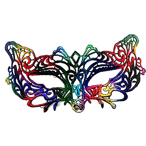 Hosaire 1x Lace Mask, Women Mask for Venetian Masquerade Carnival Halloween Dance Party Costumes Toys for Couple