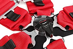 Cipher Auto Racing Harness Set -Red 5 Point 3\