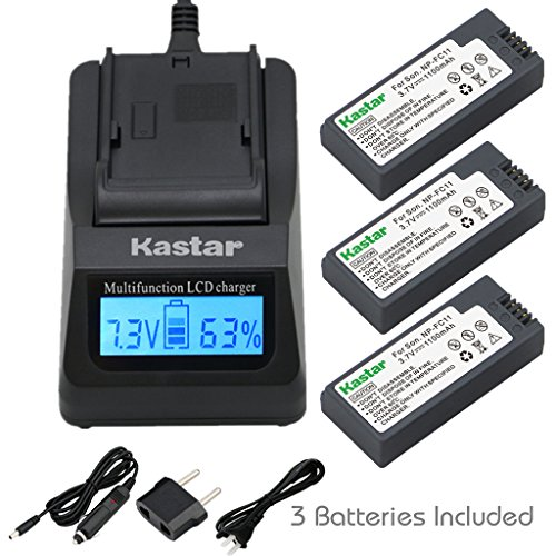 P10 P8 P7 Dsc V1 - Kastar Ultra Fast Charger(3X faster) Kit and Battery (3-Pack) for Sony NP-FC11, NP-FC10 work with Sony Cyber-shot DSC-P12, DSC-P10, DSC-P8, DSC-V1, DSC-P7, DSC-P5, DSC-P9, DSC-P3, DSC-F77, DSC-P10S, DSC-FX77, DSC-P2, DSC-P10L, DSC-P8L, DSC-F77A, DSC-P8S, DSC-P8R Cameras [Over 3x faster than a normal charger with portable USB charge function]