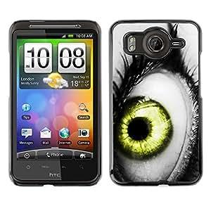 Cubierta de la caja de protección la piel dura para el HTC DESIRE HD / G10 - vibrant gray white black green deep