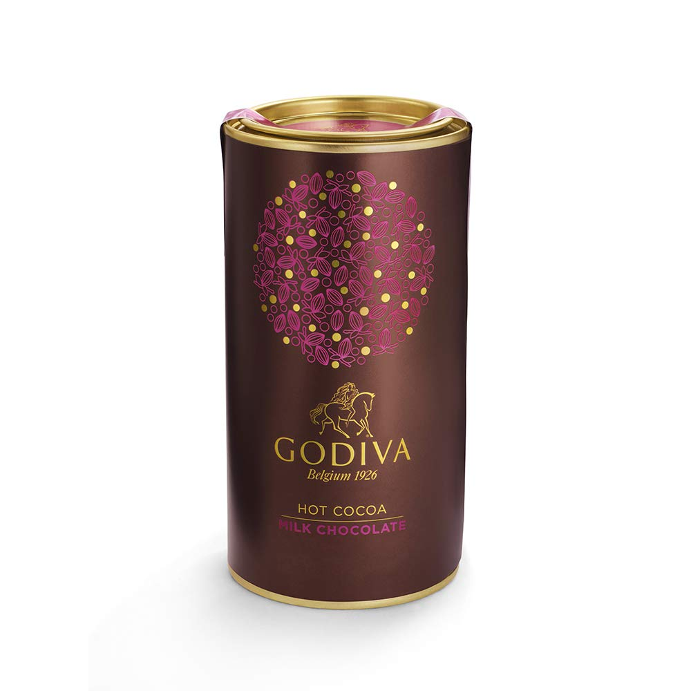 Godiva Chocolatier Milk Chocolate Gourmet Hot Cocoa Canister, Hot Chocolate Mix, 10 Servings, 13 Oz by GODIVA Chocolatier