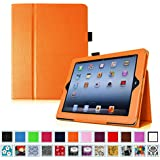 Fintie iPad 2/3/4 Case - Slim Fit Folio Case with Smart Cover Auto Sleep / Wake Feature for Apple iPad 2, the new iPad 3 & iPad 4th Generation with Retina Display, Orange