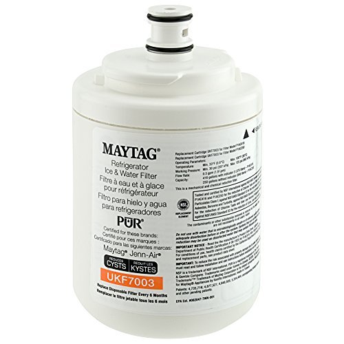 Cyst Reducing Water Filter - Maytag UKF7003 PUR PuriClean Cyst-Reducing Refrigerator Water Filter, 1-Pack Size: 1-Pack, Model: UKF7003, Outdoor & Hardware Store