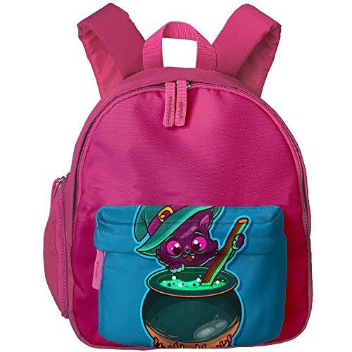 DGYEG44 Halloween Cat Backpack School Bag Bookbag For Kids Boys (Sock Monkey Halloween Makeup)