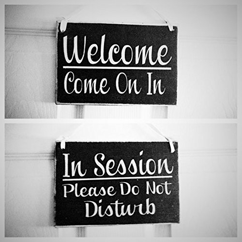 Amazoncom Two Sided In SessionPlease Do Not Disturb Welcome - In session door hanger template