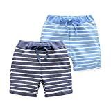 #8: HUAER& Baby Boy's Summer Shorts 2 Pack