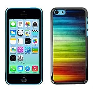 Qstar Arte & diseño plástico duro Fundas Cover Cubre Hard Case Cover para Apple iPhone 5C ( Rainbow Stripes Colorful Waves Lgbt Rights)